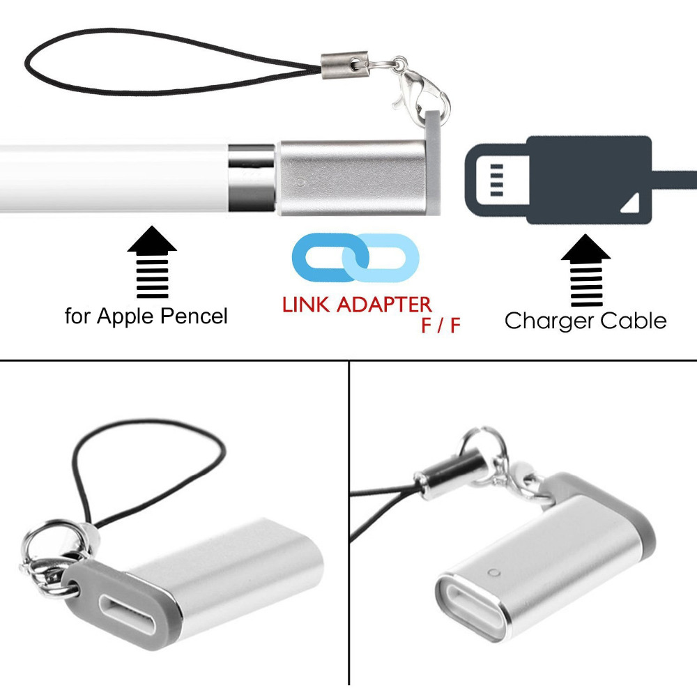 Charger Adapter Converter for Lightning Female to USB Male Extension Charging Connector for Apple iPad Pro Pencil iPencil