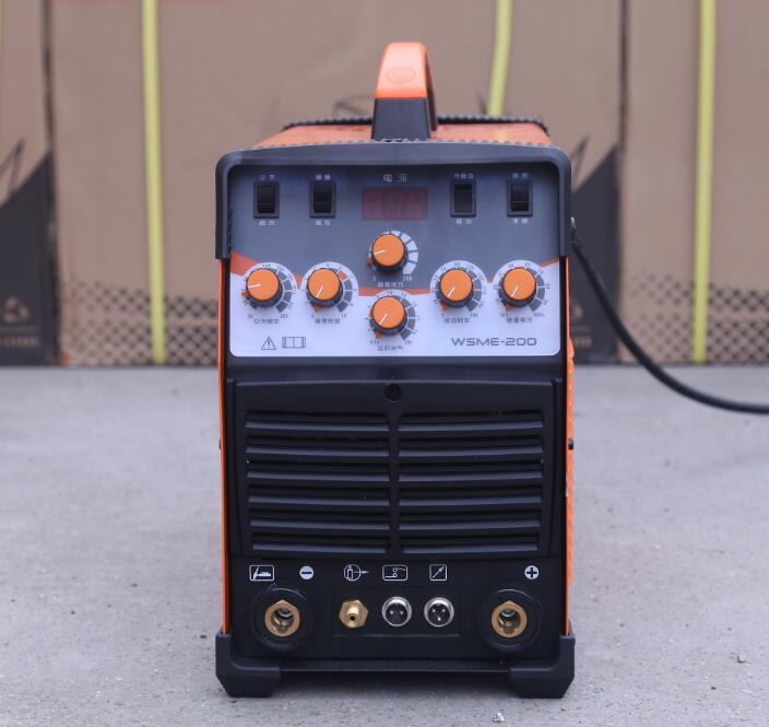 WSME-200 AC DC Puls Wig-schweißgerät Schweißen Maschine Aluminium 220 V