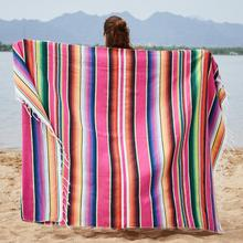 Microfine Cotton Knit Beach Towel For Adults Sand Sauna Bohemian Blanket Large Size Beach Towel Women Mexican Table Mat Picnic home practical fashion table flag beach towel mexican style blanket picnic blanket handmade striped tablecloth