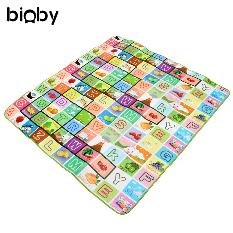 2x1.8M Baby Kids Play Mat Floor Rug Cushion Crawling Picnic Blanket Double-Side Activity Gym Mat Baby Educational Developing Mat2x1.8M Baby Kids Play Mat Floor Rug Cushion Crawling Picnic Blanket Double-Side Activity Gym Mat Baby Educational Developing Mat