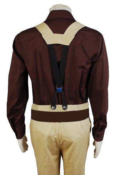 Disfraz de Cosplay del capitán Malcom Reynolds Serenity COS Brown Trench Coat camisa pantalones adulto Halloween carnaval traje conjunto completo - 6