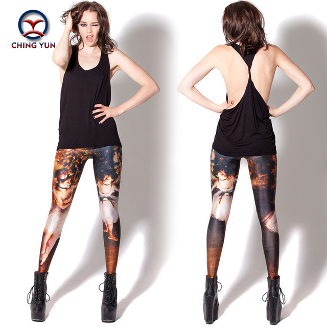 2016 women leggings hot sale brown printing free size high elastic Lady leisure casual casual Leggings woman pencil pants