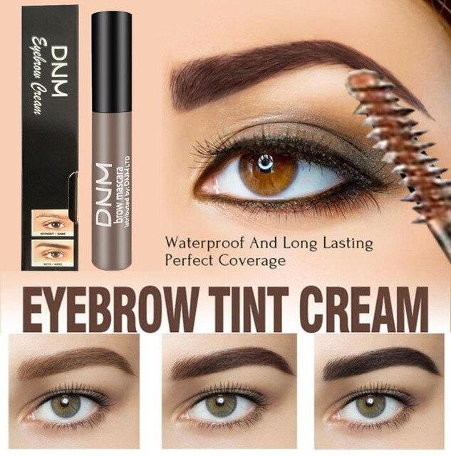 Waterproof Long Lasting Henna Eyebrow Gel Paint 5 Color Natural Black Brown Brow Enhancers Liquid Eyebrow Tint Makeup Cheap 2019 1