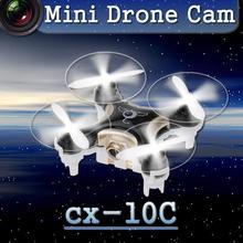 Mini Drone avec Caméra Cheerson CX-10C Petit Drone 2.4G 4CH 6 axe RC Quadcopter avec Caméra Meilleur Cadeau pour Enfants VS cx-10 FSWB