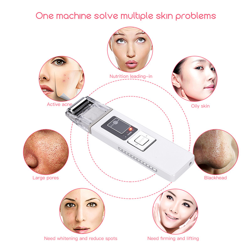 ION Galvanic Microcurrent Face Deep Cleaning Pore Cleanser Acne Blackhead Oil Dirt Removal Preventing Wrinkle Tool Lady with Box xpreen electric pore vacuum cleanser
