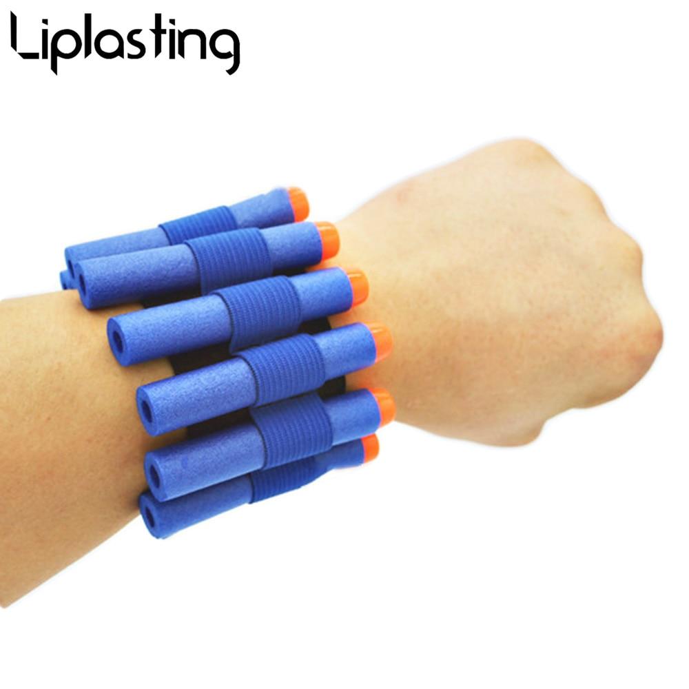 1PCS Safety Elastic Wrist Band Storage Soft Bullets For Nerf Gun Toy Children Game Toys For Children(China)