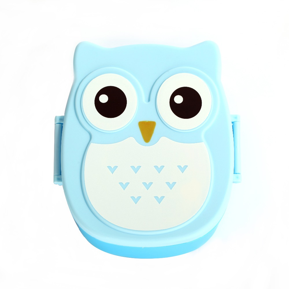 kawaill children gifts candy color cartoon owl bento lunch box food storage container fruit. Black Bedroom Furniture Sets. Home Design Ideas