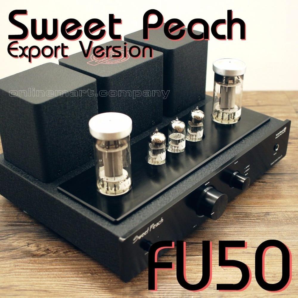 2017 NEW Black XiangSheng Sweet Peach SP-FU50 Single-Ended Tube Headphone Amplifier MM Phono Tube Amp appj pa1502a 6n4 6p6px2 tube headphone amplifier black