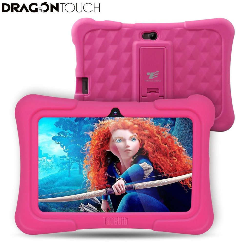 DragonTouch Newest 7 inch Kids Tablet PC Quad Core 8G ROM Android With Children Apps Dual Camera  for Children US Plug partaker embedded linux thin client x3 with dual core 1 5ghz pc station rdp 7 1