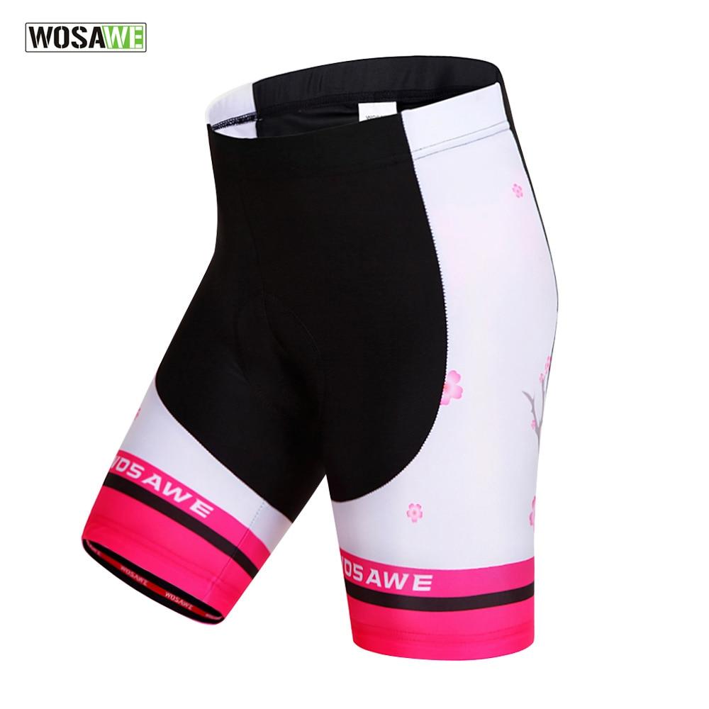WOSAWE Original Women Cycling Shorts Riding Bicycle MTB Mountain Road Bike Sportswear Cool 4D Gel Padded Shorts Clothing