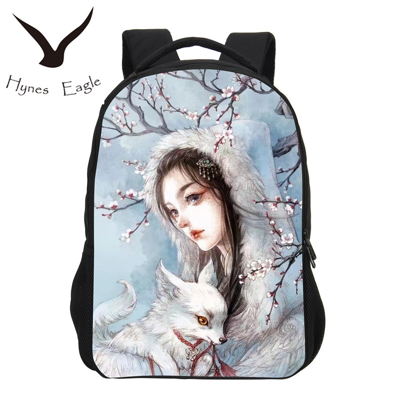 Hynes Eagle New Fashion School Backpack Gril Fashion 3D Cartoon Printing Children Shoulder Bag Boy Casual Daily Travel Backpack ...