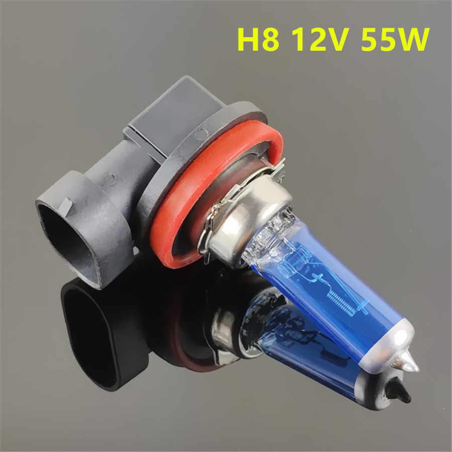 H1 H3 H4 H7 H8 H9 H11 HB3 9005 HB4 9006 55 Вт, 12-тивольтная галогенная лампа для задних фар лампы супер яркие Автомобильные светодиодные лампы фар 5000 К белого авто фары