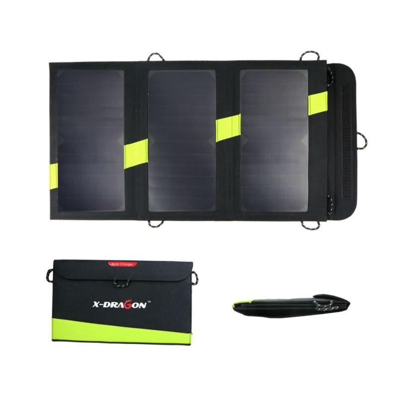 imágenes para 20 W 5 V Panel Solar Sunpower Cargador Solar Power Bank Cargador de Camping Al Aire Libre para el Teléfono Móvil