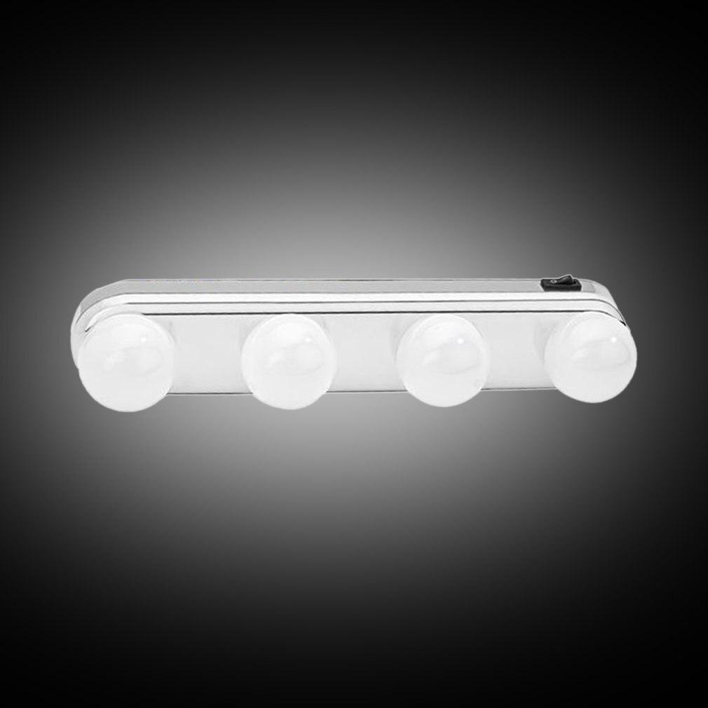 Ultra-bright 4 LEDs Bulbs Studio Glow Make Up Light rtable Cosmetic Kit Battery Powered Mirror Lighting Wholesale Sale