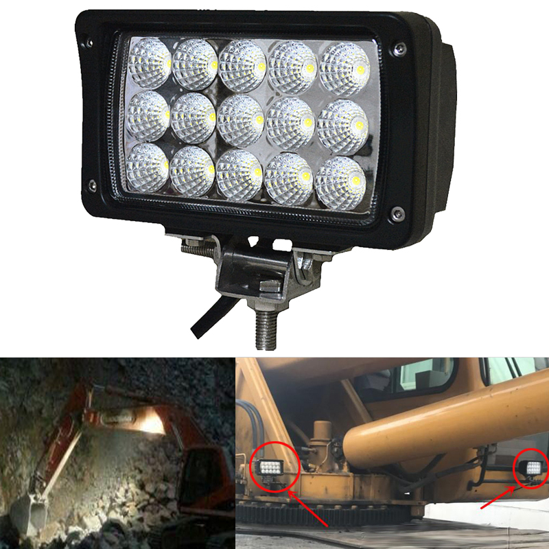 45W Waterproof Offroad Car LED Work Light Lamp LED Bar with Super Bright Leds for Motorcycle/Tractor/Boat/SUV /ATV Day Light амортизаторы bilstein в6 offroad
