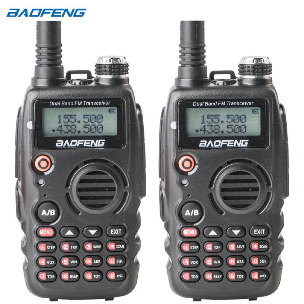 1 Pair Baofeng UV-A52 Walkie Talkie Dual-band Dual-Display VHF:136-174MHz & UHF:400-520MHz & FM(Only Reception) Ham Transceiver1 Pair Baofeng UV-A52 Walkie Talkie Dual-band Dual-Display VHF:136-174MHz & UHF:400-520MHz & FM(Only Reception) Ham Transceiver