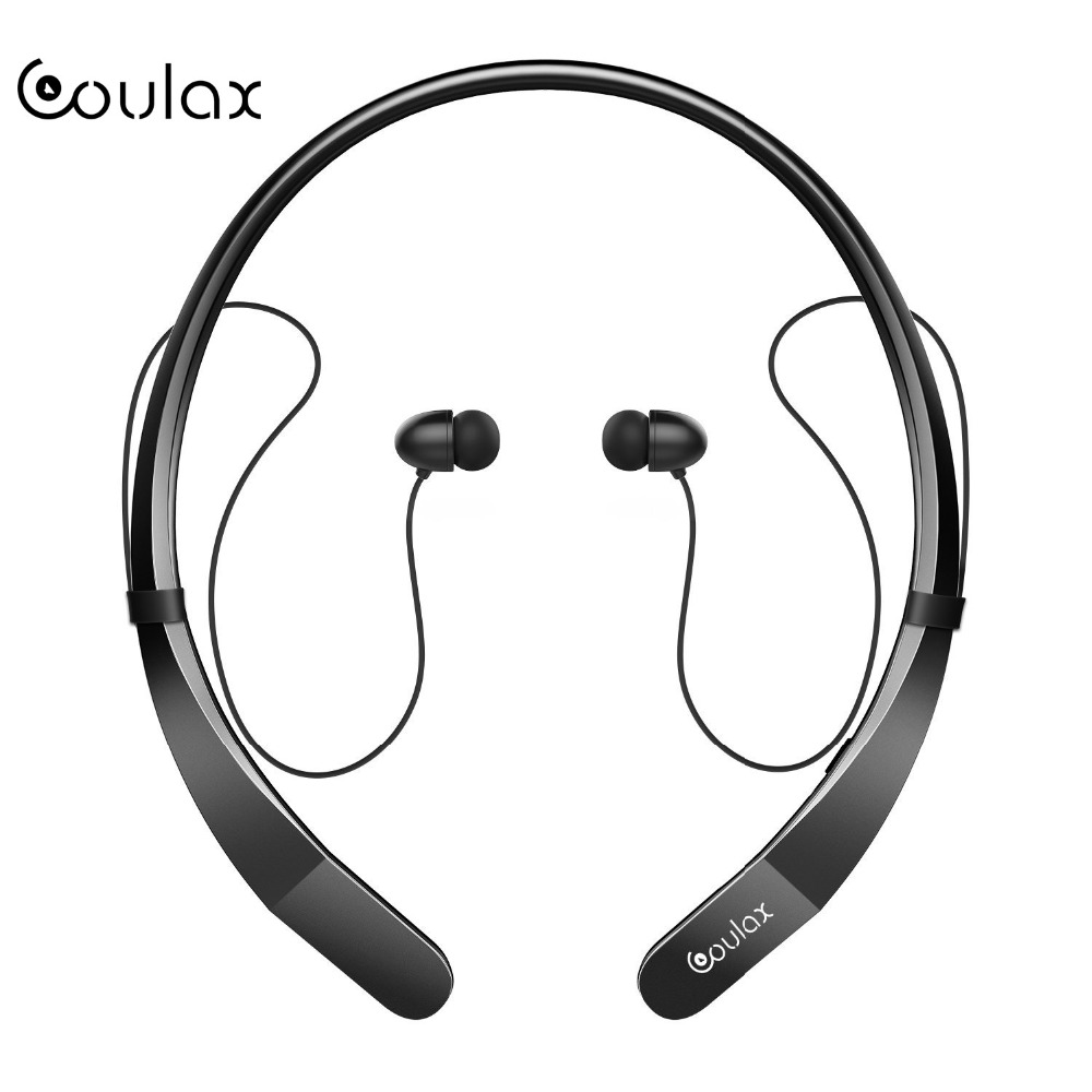 COULAX NEW Bluetooth Headphones Wireless Neckband Headset Stereo Magnetic In-Ear Earbuds with Mic Wireless Earphones for phones superior quality wireless bluetooth neckband sports mic in ear headset headphones for iphone 6 7 mar20