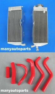 For Honda CR250R CR250 CR 250 R 90 91 1990 1991 aluminum radiator & red HOSE