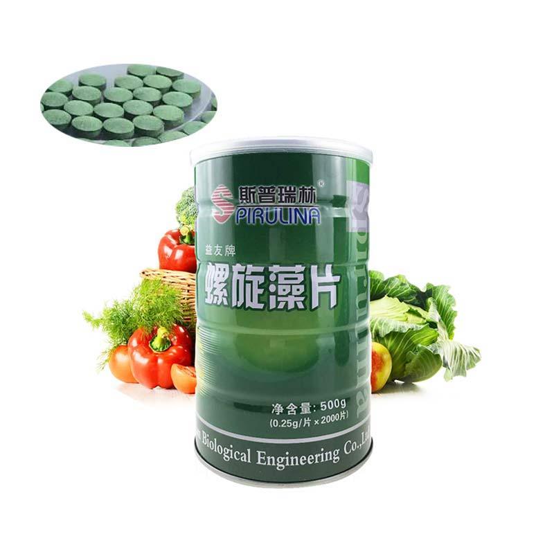 Image 4 - Comprimés de spiruline organique 100% naturel SpirulinaEnhance immunisé aliments santé Anti fatigue Anti radiation perte de poids 1000 piècesProduits dhygiène féminine   -