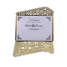 100sets Laser Cut Wedding Invite Rustic Vines Lace Invitations Card Supplies China