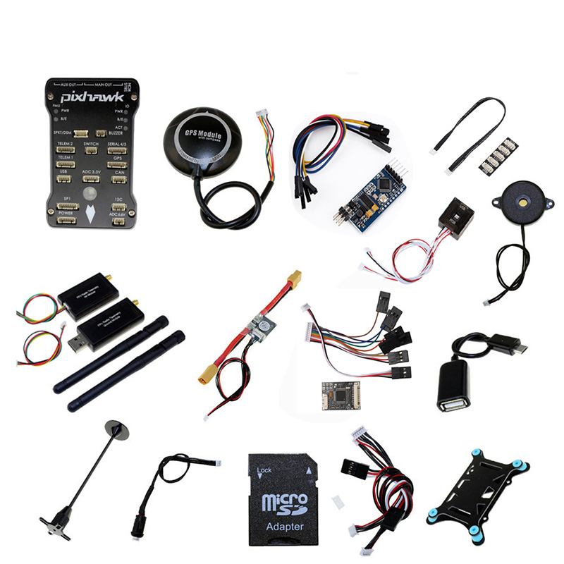 Pixhawk PX4 PIX 2.4.8 contrôleur de vol 32 bits + télémétrie 433/915 + GPS M8N + Minim OSD + PM + interrupteur de sécurité + Buzzer + PPM + I2C + 4G SD