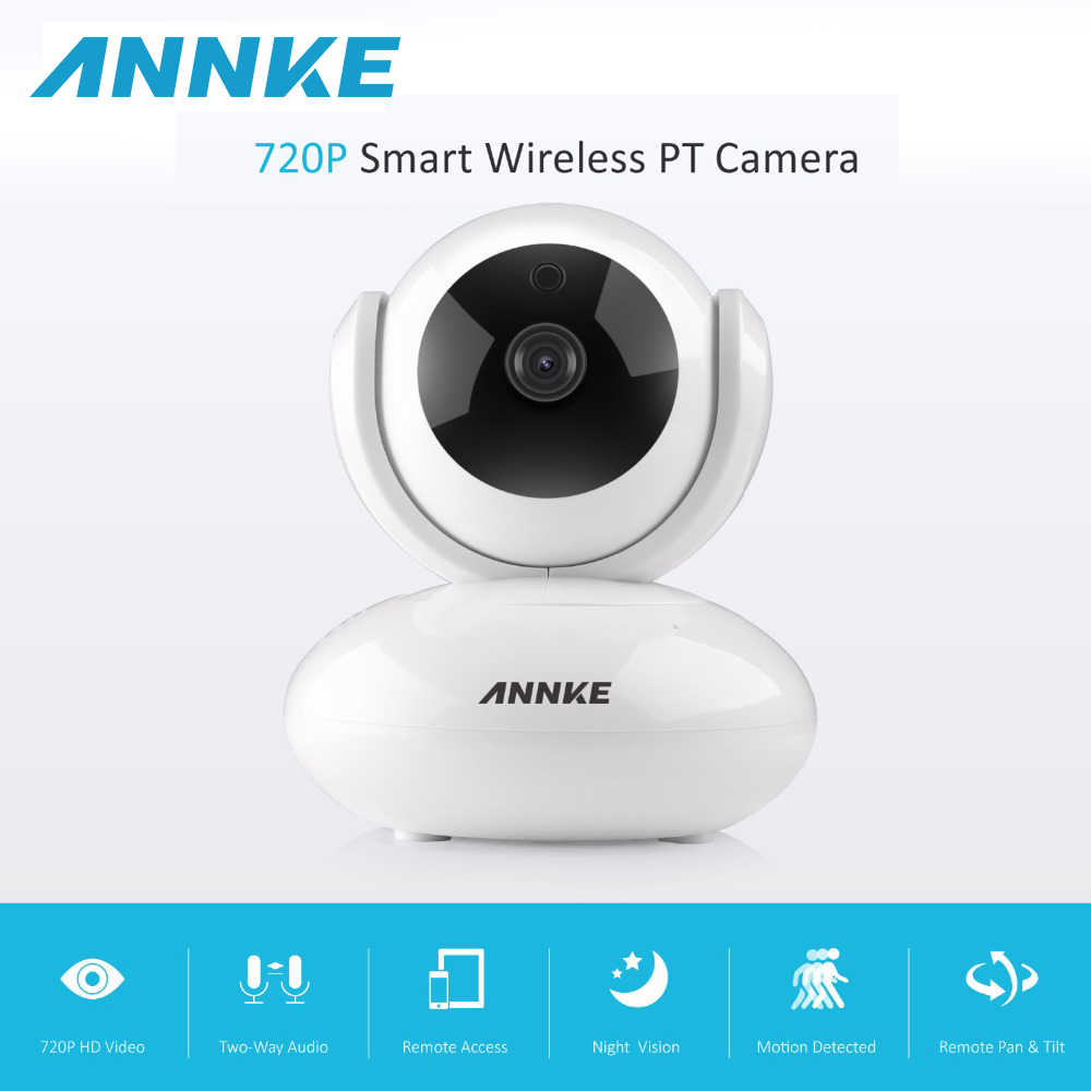 ANNKE Mini HD 720P Smart Wireless PT Security Camera 1.0MP indoor IP Camera WiFi baby Monitor 720P CCTV Surveillance Camera