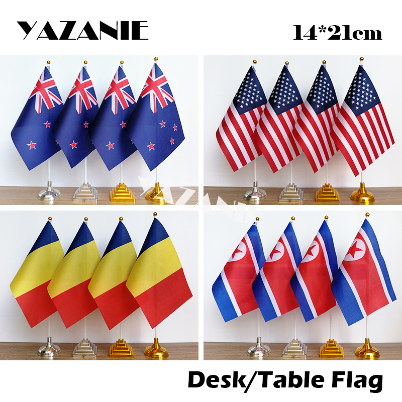"""Netherlands Miniature Fabric Hand Held Table Top Desk Flag Polyester 4/"""" x 6/"""""""