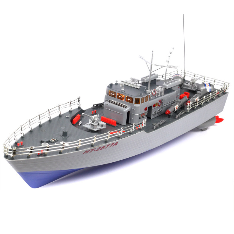 1:115 Wireless Remote Control Ship Aquatic Huzhou Level Torpedo RC Boat Warship Model Super Large Boat Childrens Gift Toys