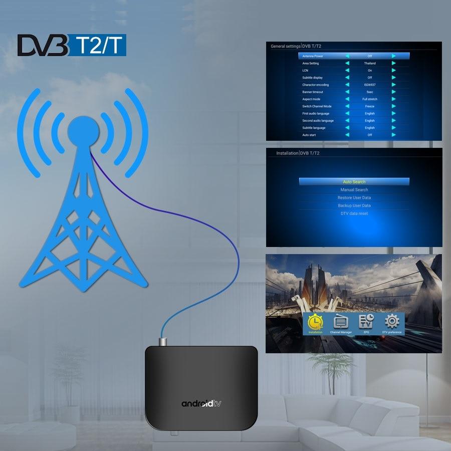 M8S PLUS DVB Smart 4K Android TV Box DVB-S2X/S2/S Terrestrischen Combo Amlogic S905D Quad Core 1GB 8GB 1080p