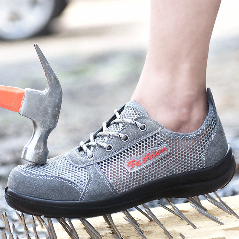 Men Safety Shoes Breathable Summer Women and Men Shose Anti-smashing Anti-piercing Mens Mesh Work Shoes Steel Toe MS84Men Safety Shoes Breathable Summer Women and Men Shose Anti-smashing Anti-piercing Mens Mesh Work Shoes Steel Toe MS84