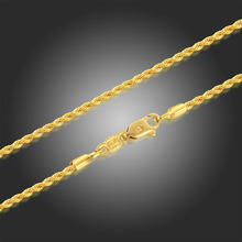 """Yellow Gold Color 45cm 50cm 60cm 80cm 30"""" Long Twisted Rope Chain Necklaces Women Mens Jewelry Bijoux kolye collier ketting"""