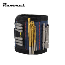 Strong Magnetic Magnet Wristband Pocket Wrist Support Tool Bag Hand Bracelet Pouch Bag Screws Drill Holder Holding Hand Tool