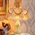 Europea pastoral tela lámpara de mesa lámpara de mesita de noche dormitorio decoración sala de bodas regalo caliente Warmwhite sen