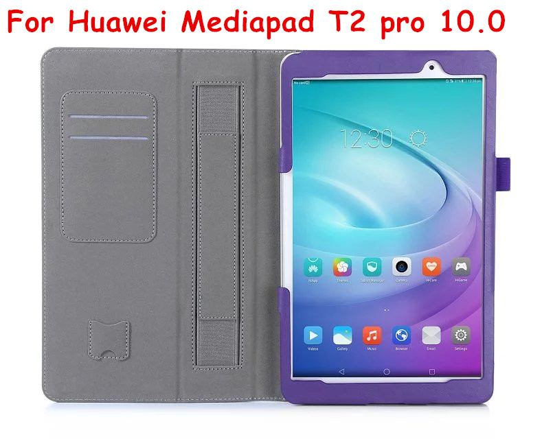 T2 Pro 10.0 Magnet Flip Cover For Huawei FDR-A01L FDR-A01W FDR-A03L Tablet Case PU Leather Case + Hand Holder + Card Slot
