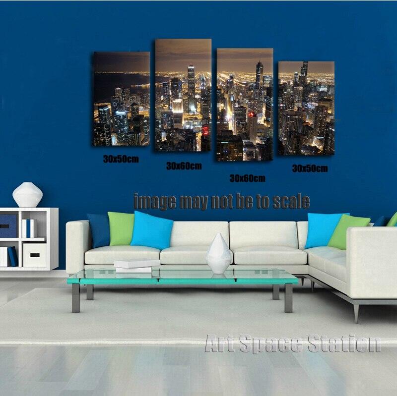 Horizonte de Chicago gigante pared de la decoración del hogar HD ...