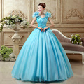 Céu Azul Plissado Flores Vestido De Noiva 2017 Chegada Nova