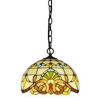 12 Inch Baroque Pendant Tiffany Lamp European Style Retro Restaurant Kitchen Balcony Hotel Glass