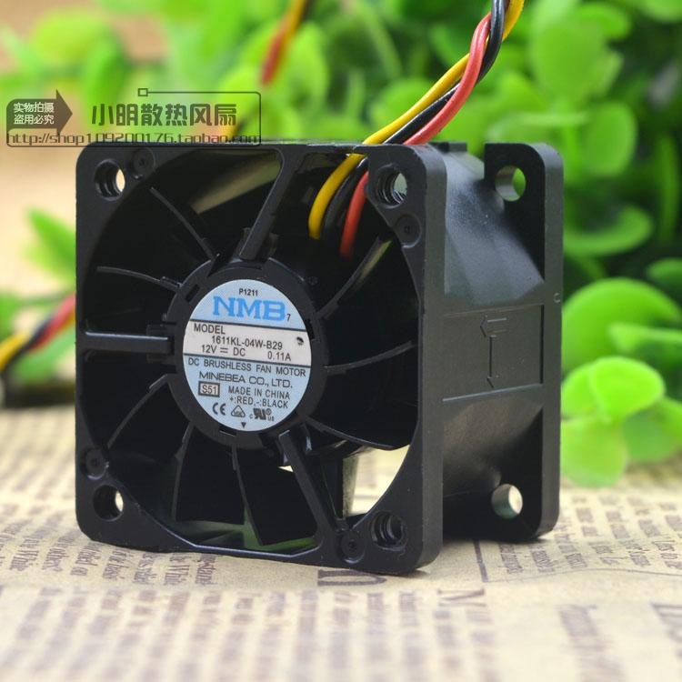 Free Delivery.4 cm 12 v 1611 kl - 4028-04 w b-29 3 line server chassis industrial computer fan
