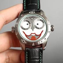 KC для мужчин Мода Джокер циферблат Moon фазный Автоматический Механические наручные часы со швейцарским двигаться t