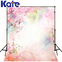 Kate 10x10ft Newbo Photographic Background Pink Color Pink Flowers Plants Space Bracket Backdrops Newborn Princess