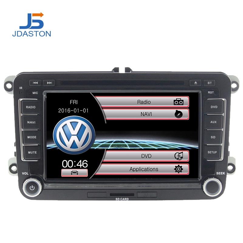 JDASTON 2 DIN dvd de voiture radio gps Pour Skoda Volkswagen VW Passat B6 Polo De Golf 4 5 Touran Sharan Jetta Caddy T5 tiguan Bora 128 MB