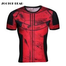 Deadpool T shirts 2017 Compression Tops Tees Badass Comic T-shirt Crossfit Cosplay Superhero Camiseta Bodybuliding ZOOTOP BEAR