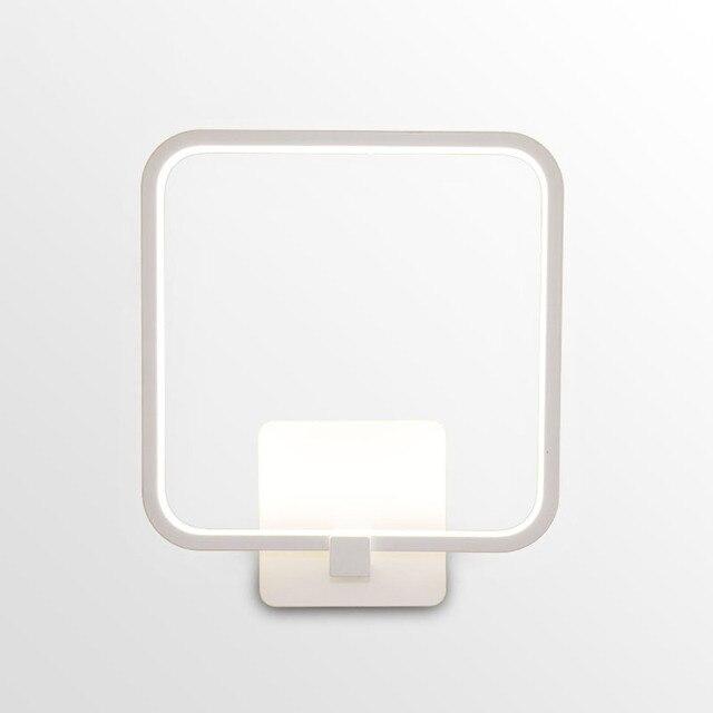 Nordic Eenvoudige Vierkante Aluminium Led Wandlamp Lustre Acryl Gang ...
