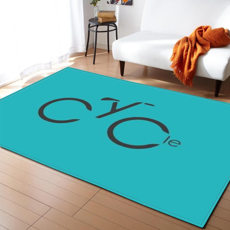 Moderne lettre impression tapis pour salon maison nordique tapis chambre chevet couverture zone tapis doux étude salle teppich tapis plancher - 4