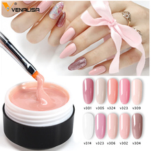 цена на Venalisa supply 15 ml strong thin Jelly led UV soak off cover pink clear nail art Camouflage UV Builder gel Extend nail gel