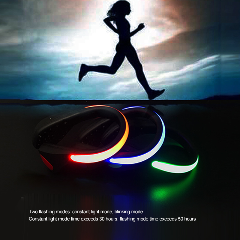 1pair LED Waterproof Shoe Clip Outdoor Bicycle LED Warning Light Safety Night Running Shoe Safety Clips Light Luminous