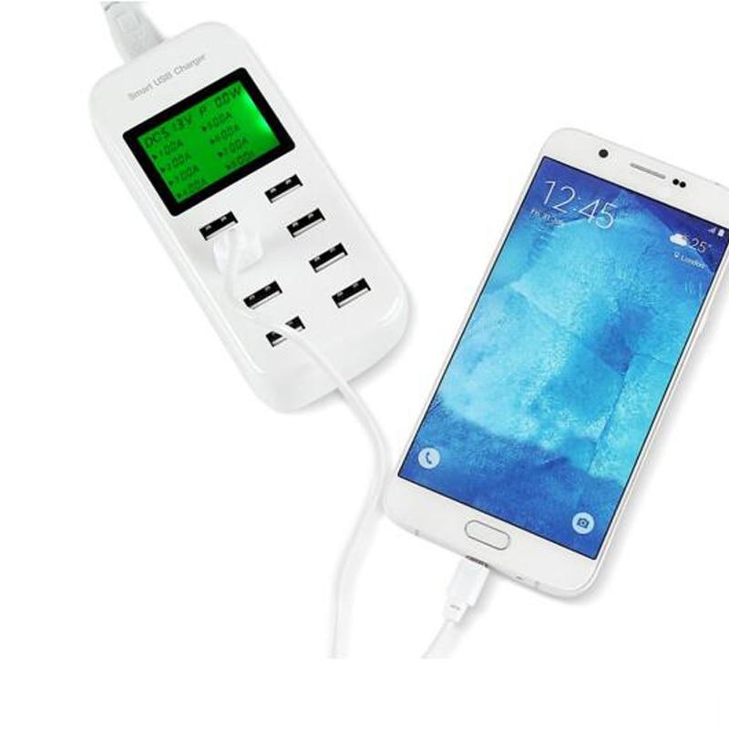 8-portowa ładowarka USB STOD 40 W LCD Show Stacja ładująca w - Części i akcesoria do telefonów komórkowych i smartfonów - Zdjęcie 6