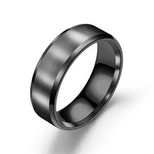 2018 New black Titanium Steel finger ring for men silver plated rings Women Glossy accessories Ring Jewelry Couple fashion Rings(China)
