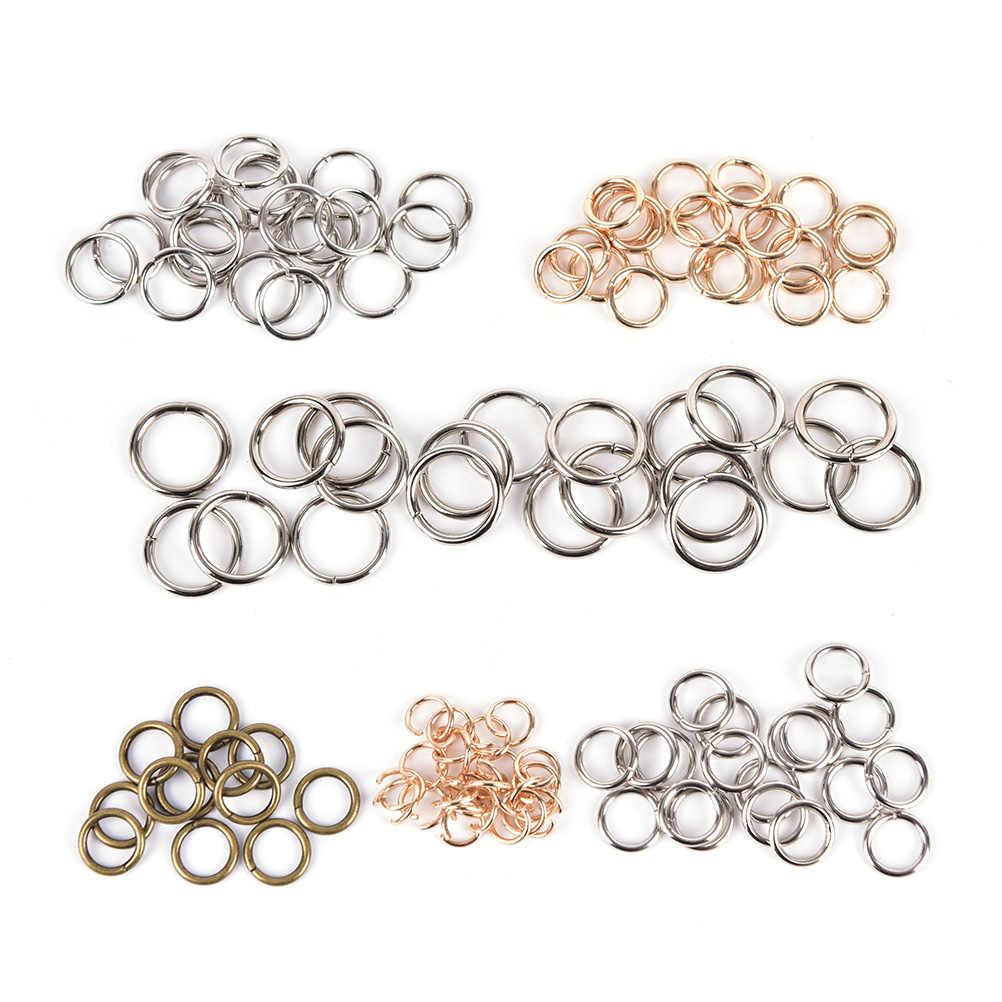 20 piunids/lote DIY anillos gancho cadena para bolsa Quickdraw llave Metal bolsa accesorios al por mayor