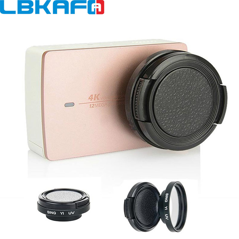 LBKAFA For Xiao Yi Lens Cap 37mm Filter Lens Adapter + Glass UV Lens + Protective Cap for Xiaomi Yi XiaoYi II 4K Camera ...